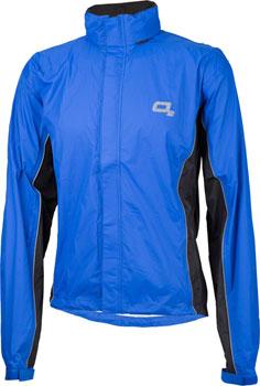 O2 Rainwear Primary Rain Jacket with built-in Hood: Royal Blue SM