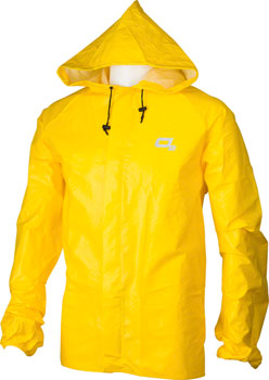 O2 Rainwear Element Series Rain Jacket with hood: Yellow SM