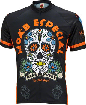 World Jerseys Moab Brewery Especial Men's Cycling Jersey: Black, MD