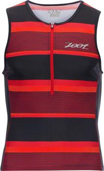 Zoot Performance Tri Tank Men's Triathlon Top: Race Day Red Stripe SM