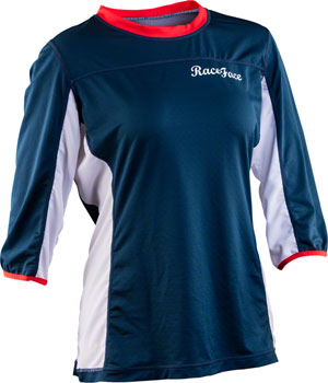 RaceFace Khyber Women's Jersey: Navy/Flame MD