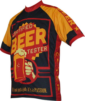 World Jerseys Beer Tester Men's Cycling Jersey: Black/Gold, MD