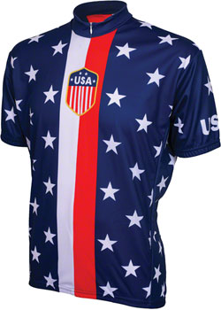 World Jerseys 1956 Retro USA Men's Cycling Jersey: Red/White/Blue, 2XL