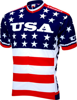 World Jerseys Team USA 1979 Retro Men's Cycling Jersey: Red/White/Blue, MD