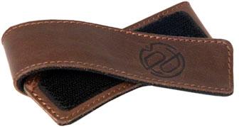 Portland Design Works Cuff Link Leather Leg Band: Brown