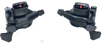 microSHIFT TS71 Thumb Tap Shifter Set, 8-Speed, Triple, Optical Gear Indicator, Shimano Compatible