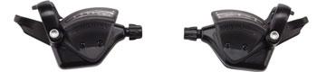 microSHIFT TS51 Thumb Tap Shifter Set, 7-Speed, Triple, Shimano Compatible, Black