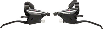 Shimano ST-EF65 3x7-Speed Brake/Shift Lever Set Black