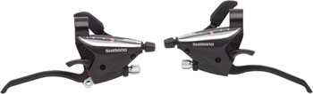 Shimano EF65 3x8-Speed Flat Bar Brake/Shift Lever Set Black