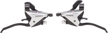 Shimano ST-EF65 3x8-Speed Flat Bar Brake/Shift Lever Set Black