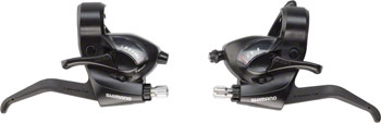 Shimano ST-EF41 3x7-Speed Brake/Shift Lever Set Black