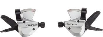 Shimano Altus SL-M370 3x9-Speed Shifter Set, Silver