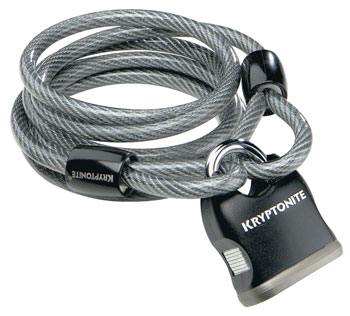 Kryptonite KryptoFlex Cable Lock with Key: 6' x 8mm
