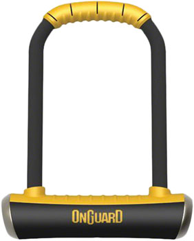 OnGuard PitBull U-Lock with Bracket: 4.5 x 9, Black/Yellow