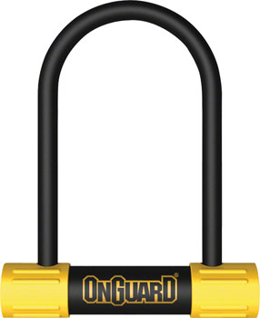 OnGuard Bulldog Mini U-Lock: 3.55 x 5.5, Black/Yellow