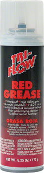 TriFlow Red Grease Aerosol: 6.25oz