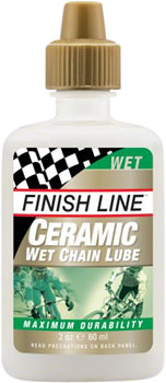 Finish Line Ceramic Wet Chain Lubricant, 2oz Drip