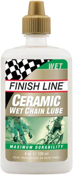 Finish Line Ceramic Wet Chain Lubricant, 4oz Drip