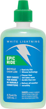 White Lightning Epic Ride Chain Lubricant, 4oz Drip