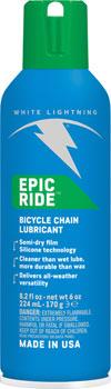 White Lightning Epic Ride Chain Lubricant, 6oz Aerosol