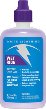 White Lightning Wet Ride Chain Lubricant, 4oz Drip