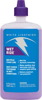 White Lightning Wet Ride Chain Lubricant, 8oz Drip
