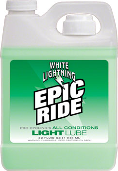 White Lightning Epic Ride Chain Lubricant, 32oz