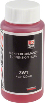 RockShox Suspension Oil, 3wt, 120ml Bottle, Rear Shock Damper/Charger Damper