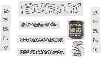 Surly Ice Cream Truck Frame Decal Set White