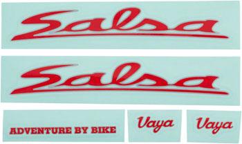 Salsa Vaya Travel Decal Set Red