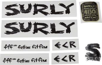 Surly ECR Frame Decal Set: Black