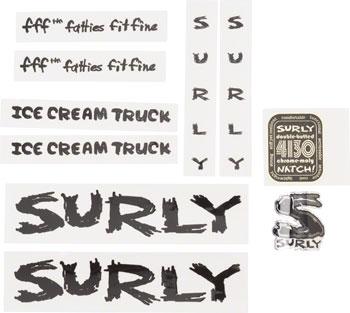 Surly Ice Cream Truck Frame Decal Set Black