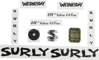 Surly Wednesday Decal Set Black
