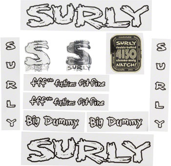 Surly Big Dummy Decal Set with Headbadge Transparent