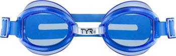 TYR Racetech Goggle: Blue Frame/Blue Lens