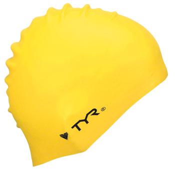 TYR Wrinkle-Free Silicon Swim Cap: Yellow