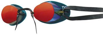 TYR Socket Rocket 2.0 Mirrored Goggle: Metallic Fire