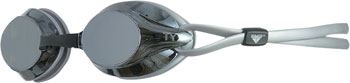 TYR Velocity Mirrored Goggle: Silver Gasket/Metallized Silver Lens