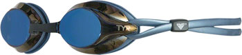 TYR Velocity Mirrored Goggle: Blue Gasket/Metallized Blue Lens