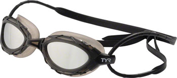 TYR Nest Pro Mirrored Goggle: Black Frame/Metallized Titanium Lens