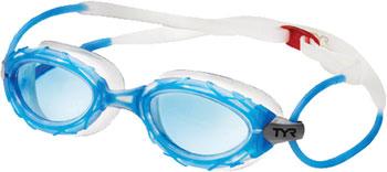 TYR Nest Pro Nano Goggle: Blue Frame/Clear Gasket/Blue Lens