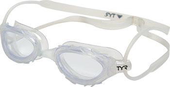 TYR Nest Pro Nano Goggle: Clear Frame/Clear Lens