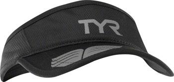 TYR Competitor Running Visor: Black/Gray One Size