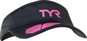 TYR Competitor Running Visor: Black/Pink One Size