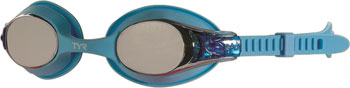 TYR Swimple Kids Mirrored Goggle: Blue Gasket/Metallized Blue Lens