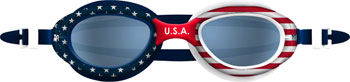 TYR Special Ops 2.0 Polarized Goggle: USA Frame/Smoke Lens