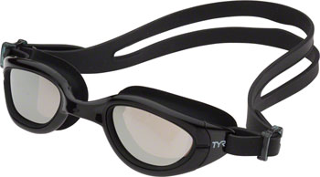 TYR Special Ops 2.0 Polarized Femme Goggle: Black Frame/Metallized Silver Lens