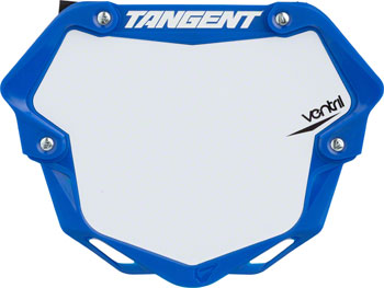 Tangent Ventril 3D Large Number Plate Blue with White Insert