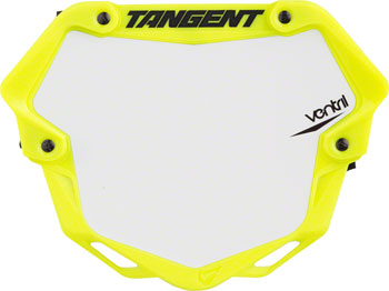 Tangent Ventril 3D Large Number Plate Neon Yellow with White Insert