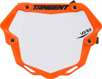 Tangent Ventril 3D Large Number Plate Neon Orange with White Insert